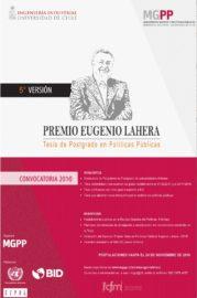 afiche premio politicas publicas Eugenio Lahera